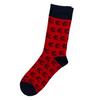 SOCK 101 | THE MONARCH | RED AND NAVY