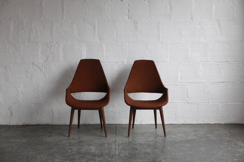 Danish High Back Chairs  (Set of 2 Restored)