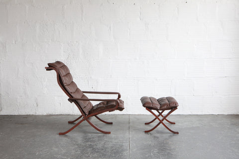 Safari Lounge Chair and Ottoman