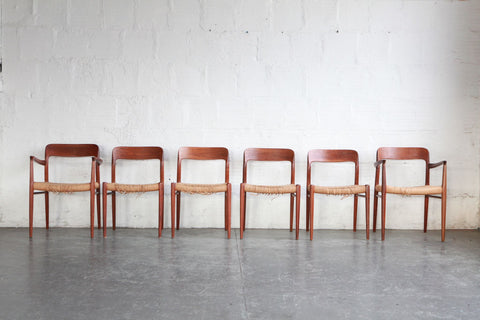 Niels Moller Model 77 Dining Chairs (Set of Six)