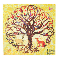 Tree of Life Deer & Fox Card