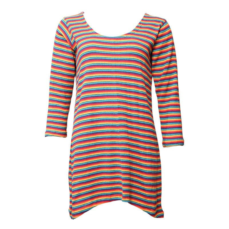 Rainbow Knit Shift Dress
