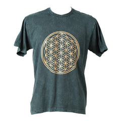 Flower of Life Acid Wash T-Shirt