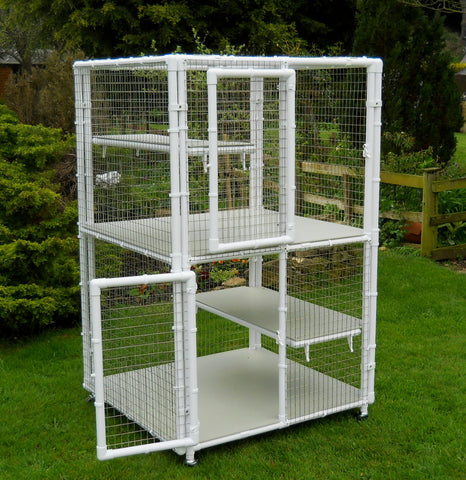 Double Decker cat cage with middle floor from Penthouse Products