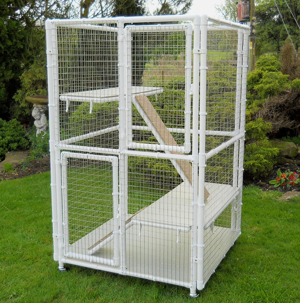Double Decker cat cage without middle floor from Penthouse Products (ramp not included)