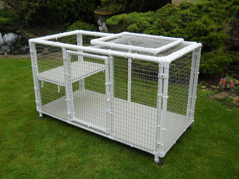 Kittening pen with shelf and castors