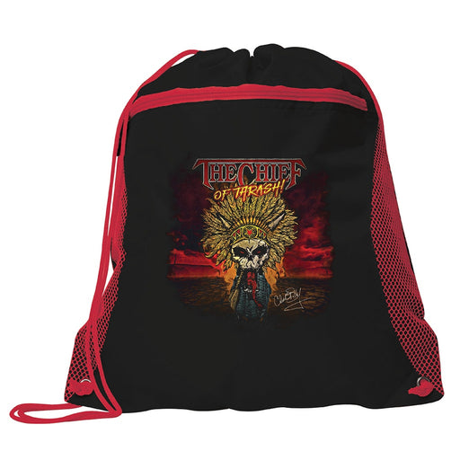 Chuck Billy The Chief Of Thrash Collection Drawstring Bag bundle gifts concerts travel