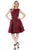 Blossom Wrap Dress Crimson
