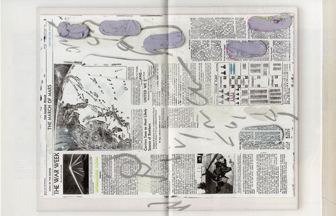 Laura Owens: Untitled Zine (Air Battle Rages Over Los Angeles)