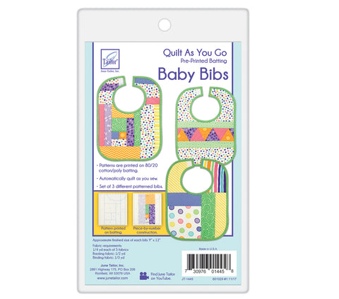 Quilt-As-You-Go Baby Bibs