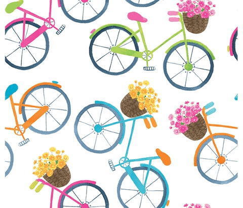 Blank Quilting Home Sweet Home - Bicycles White