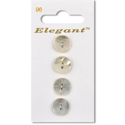Sirdar Elegant Carded Buttons - Design 96 - 12mm Shell Natural