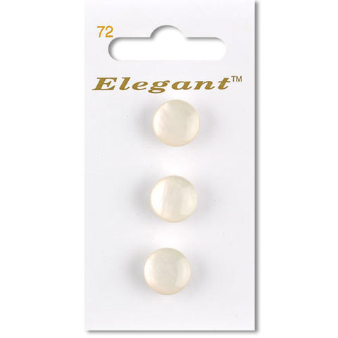Sirdar Elegant Carded Buttons - Design 72 - 12mm Shanked Shell Effect White