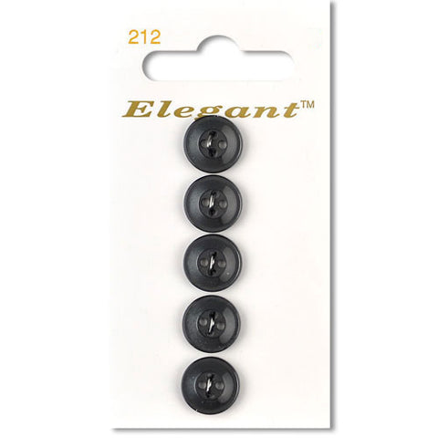 Sirdar Elegant Carded Buttons - Design 212 - 12mm Grey Shirt Buttons