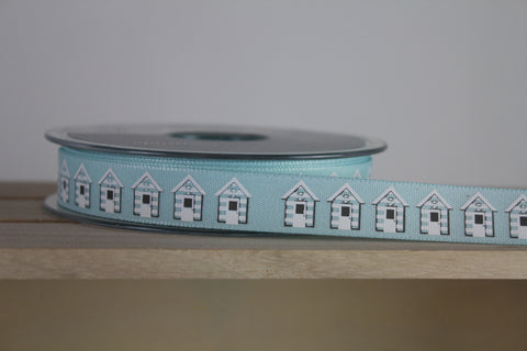 Beach Hut Print Ribbon by Berisfords - Online Haberdashery