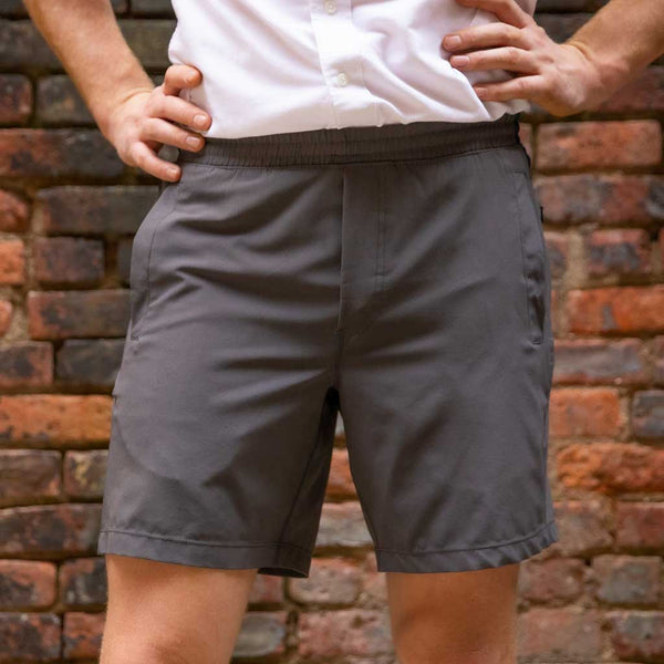 Birddogs Ironsides Navy Gray Gym Shorts Navy Liner Brick Wall