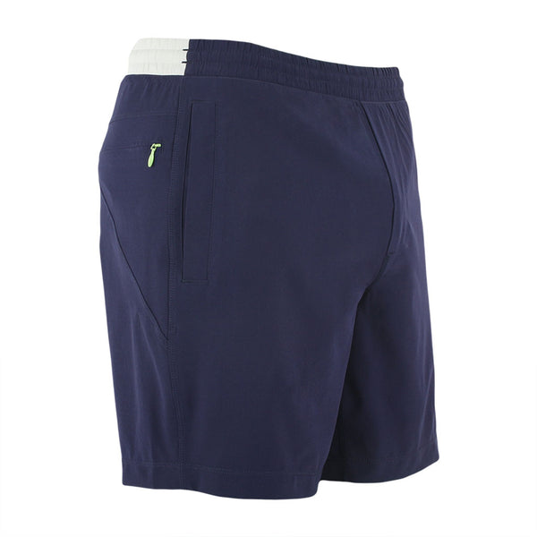Birddogs Quaker Johns Navy Gray Gym Shorts Mint Liner Front Right Angle