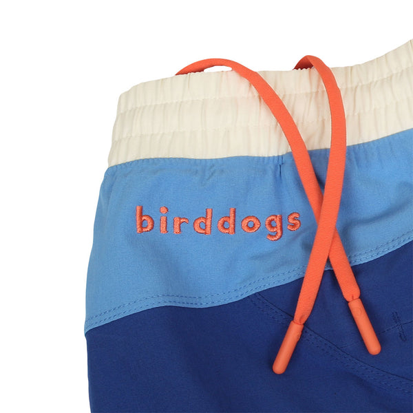 Birddogs The 1 Star Reviews Navy Blue White Gym Shorts Orange Liner Waistband