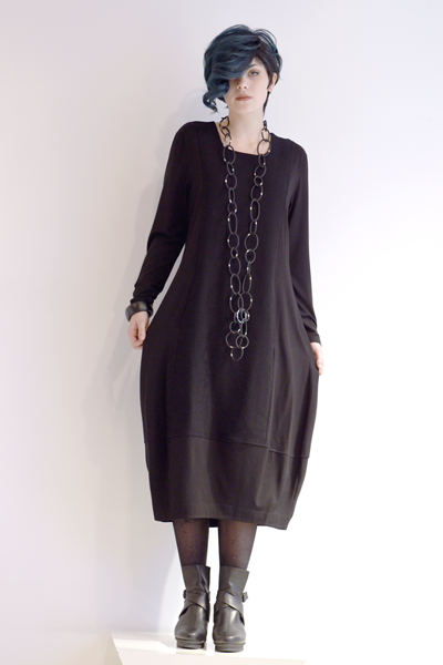 EC Pascale Dress in EC Black