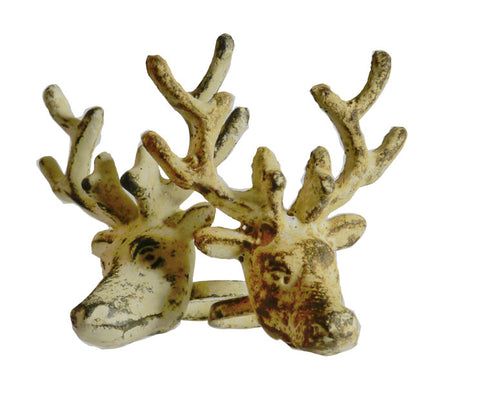Kalalou Deer Wine Topper/Napkin Rings