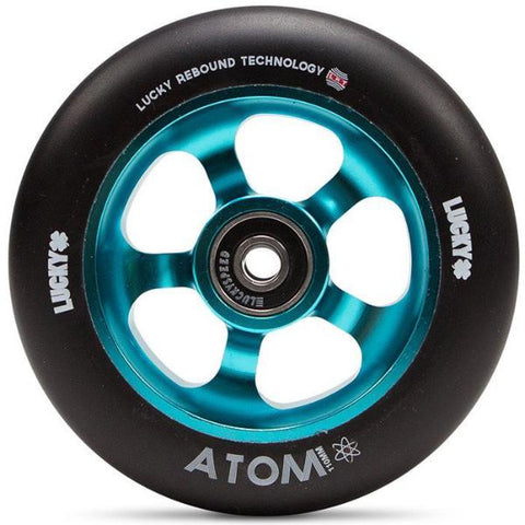 Lucky Atom 110MM Scooter Wheels - Black/Blue