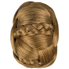 Jessica Simpson Hairdo Braided Chignon Clip In On Bun Hair Dark Blonde