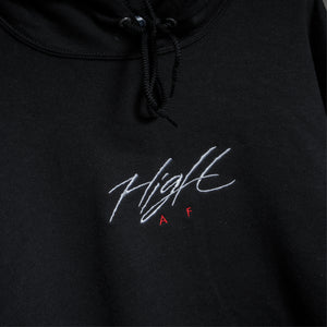 HIGH AF HOODED SWEATSHIRT - BLACK