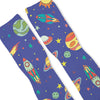 Space Galaxy Night Custom Athletic Fresh Socks