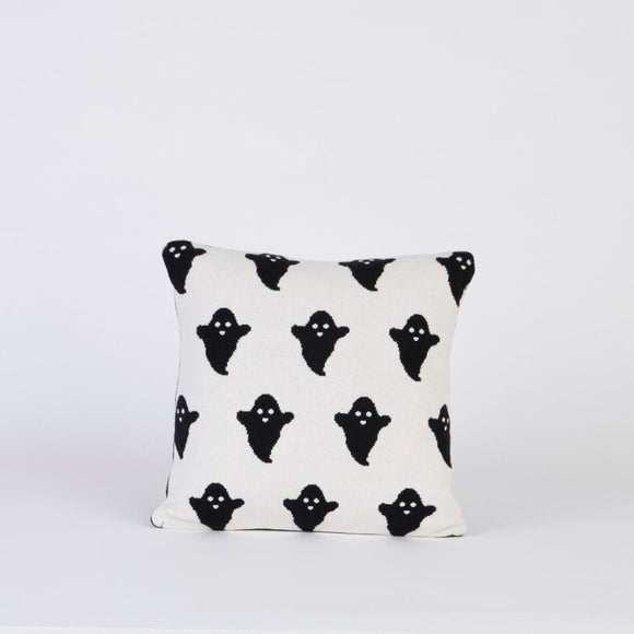 WOOUF BLACK AND WHITE GHOST CUSHION