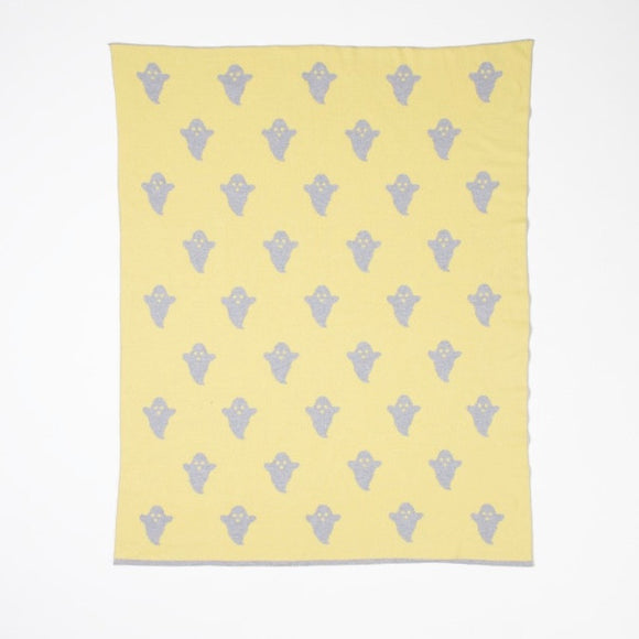 WOOUF YELLOW GHOST BLANKET
