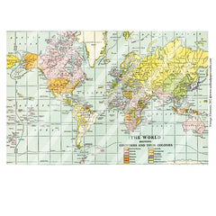 world map collage sheet