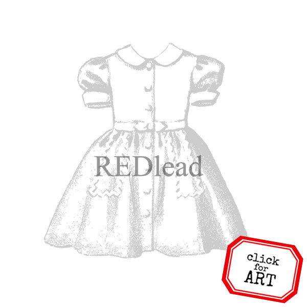 Darlene Dress Rubber Stamp