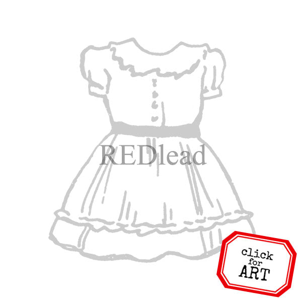 Donna Dress Rubber Stamp Save 10%