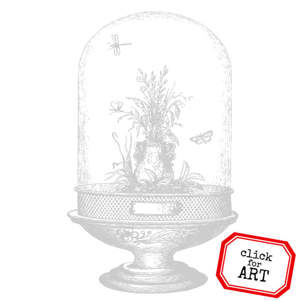 Glass Garden Rubber Stamp Save 15%