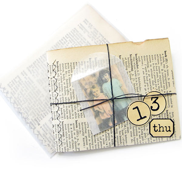 Small Stitched Vintage Dictionary Book