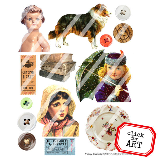 Vintage Elements 265 Collage Sheet