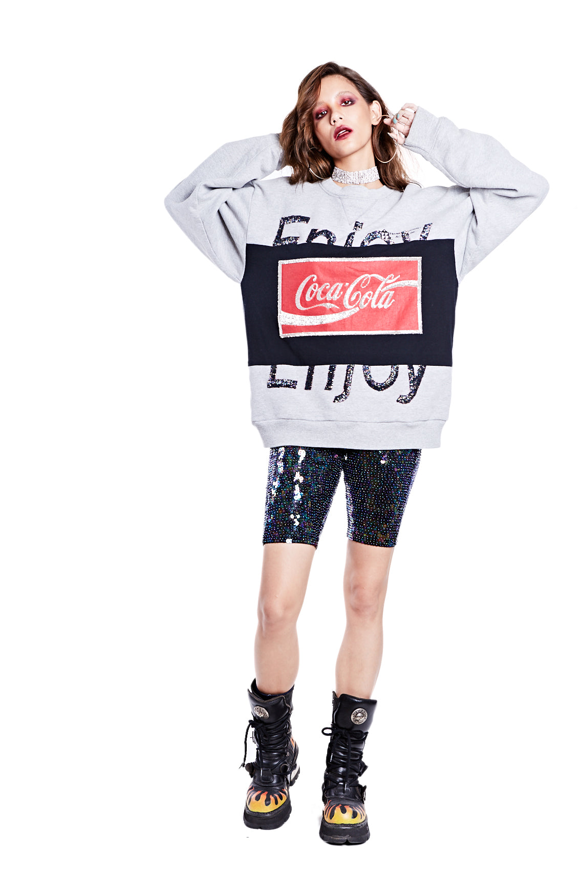 "Coke Sweatshirt Mod - ""ENJOY"" - I LOVE DIY by Panida"