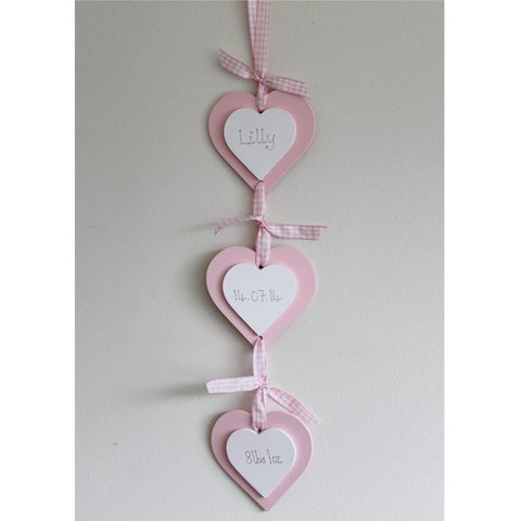 Triple Hanging Hearts