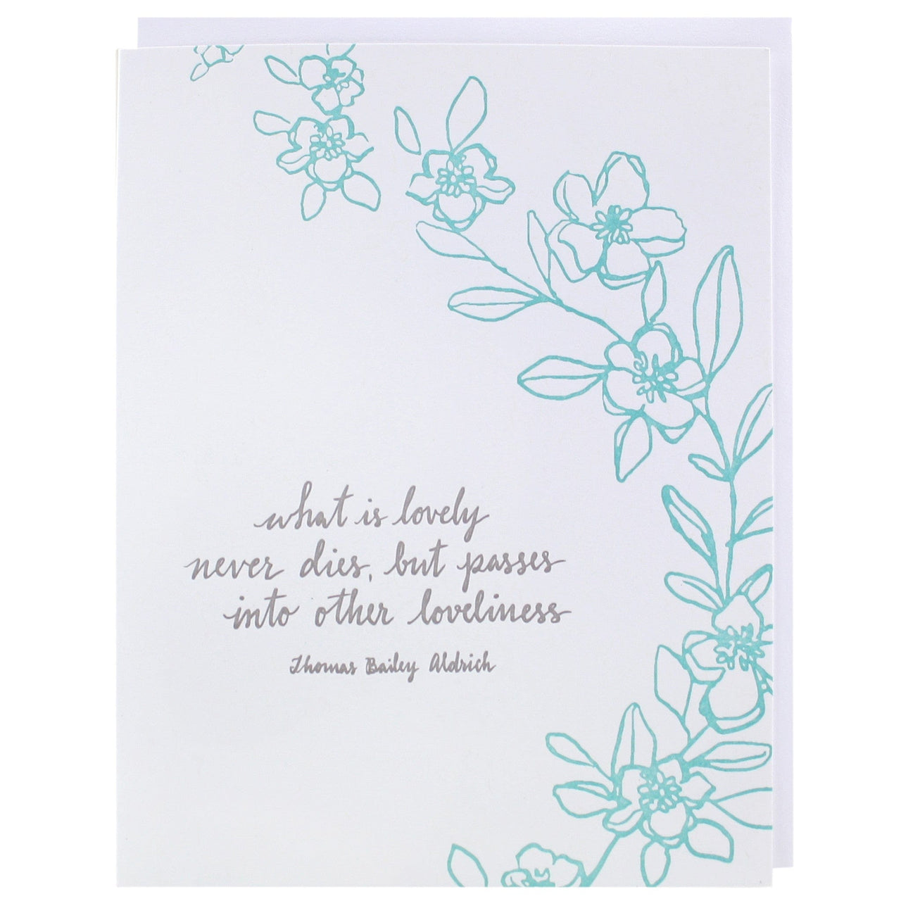 Loveliness Quote Sympathy Card