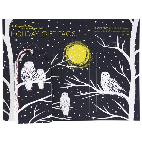 Peaceful Owls Gift Tags