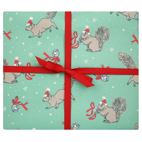 Christmas Squirrels Gift Wrap