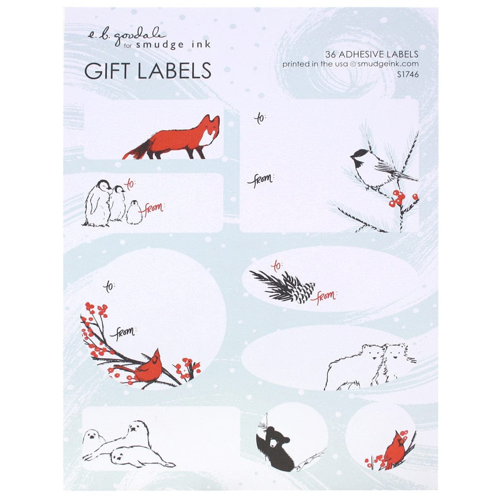 Winter Animals Gift Labels