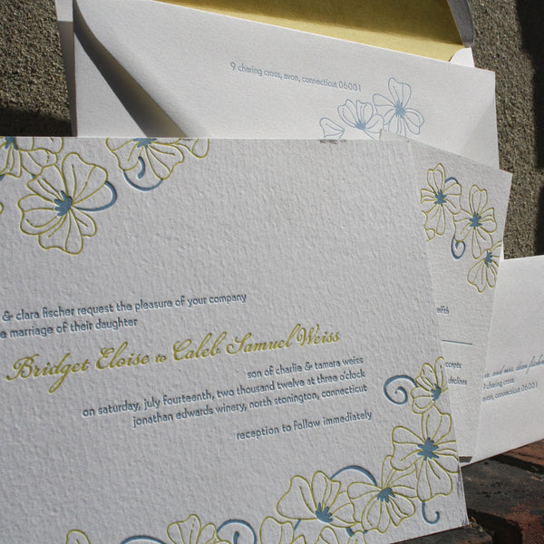 Somerset Letterpress Invitation Suite