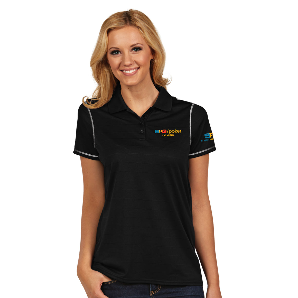 """SPG"" Ladies Icon Polo - Suited Poker Gear"