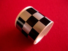 CHECKERED TAPE Black & Silver