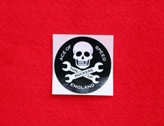 SKULL & SPANNERS Mini Sticker