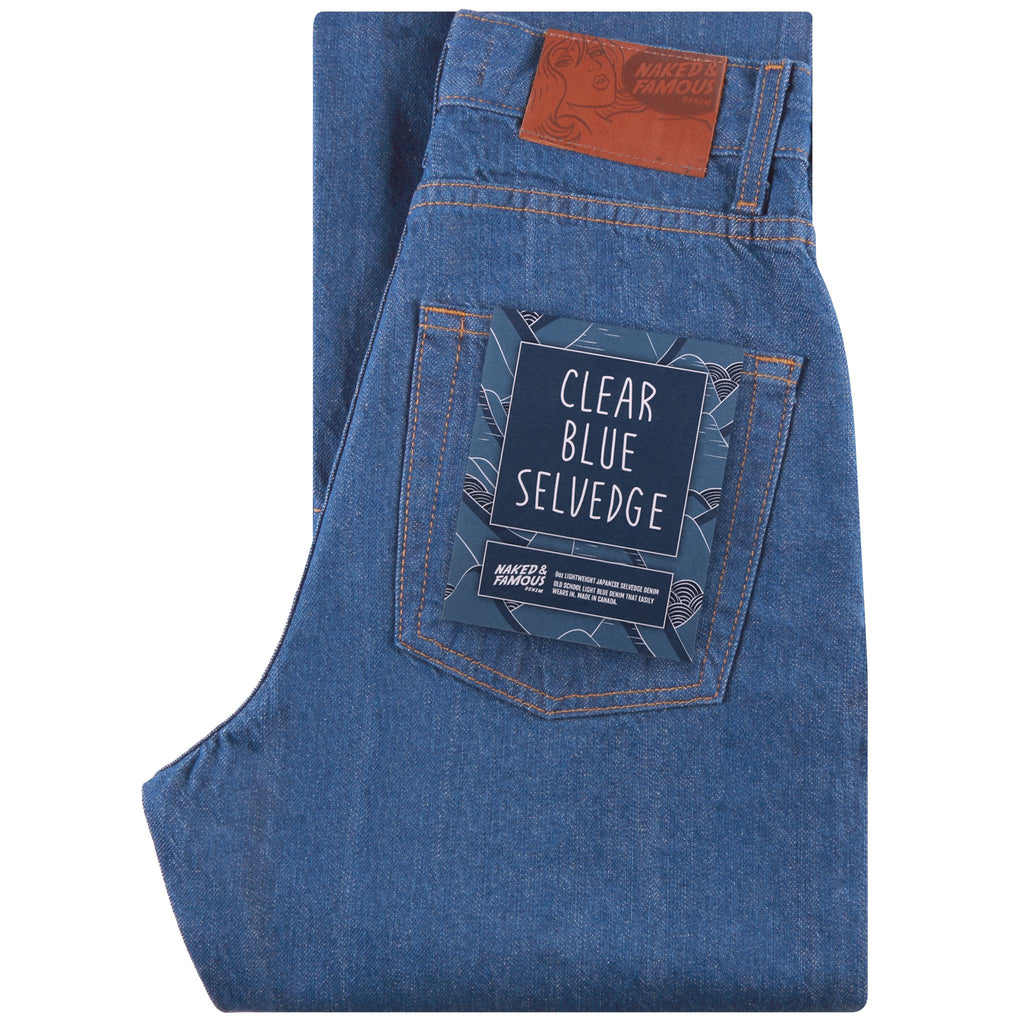 Women's Selvedge Denim | Clear Blue Selvedge by Naked & Famous Denim