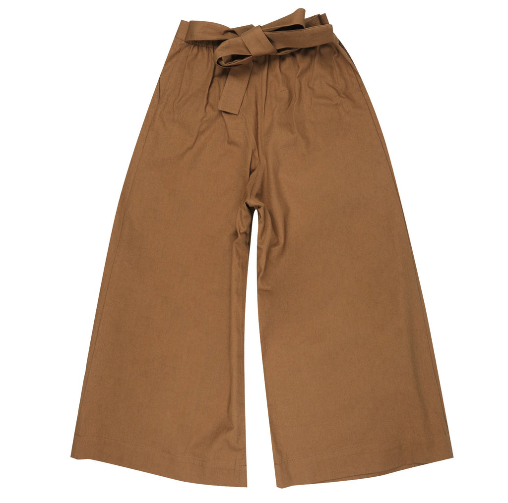 Women's - Wide Pants - Rinsed Oxford - Camel | Naked & Famous Denim