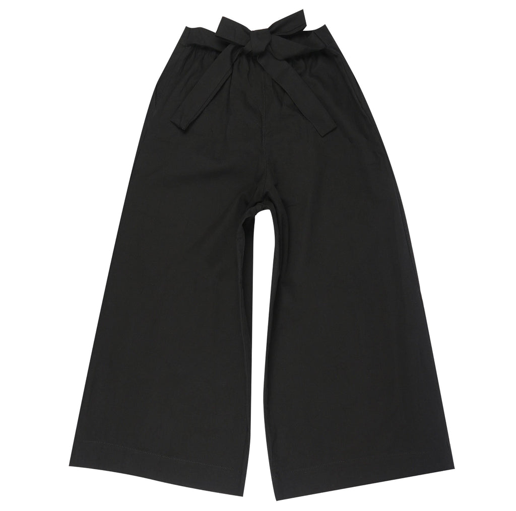 Women's - Wide Pants - Rinsed Oxford - Black | Naked & Famous Denim
