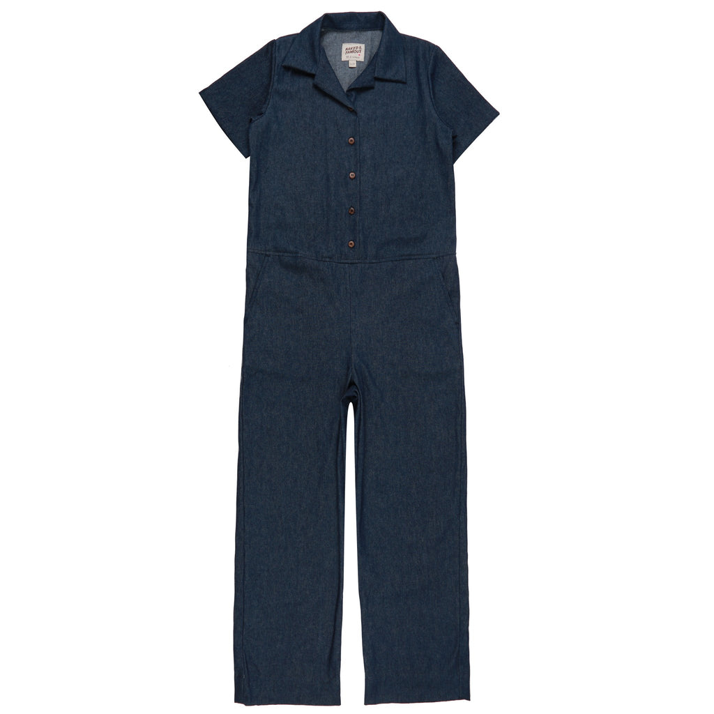 Women's - Jumpsuit - 7oz Dark Indigo Denim | Naked & Famous Denim